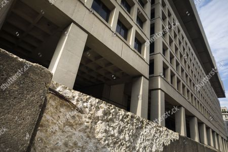A crumbling facade at the J. Edgar Hoover Building, headquarters of the Federal Bureau Of Investigation (FBI), in Washington, DC, USA, 11 July 2017. After years of trying, federal officials are canceling plans to relocate FBI headquarters to the DC suburbs due to lack of federal funding, media reported.