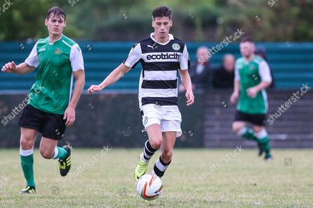 66f0c559b9787b Forest Green Rovers Olly Mehew on the ball during the Pre-Season Friendly match  between