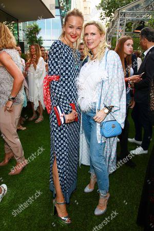 Stock Photo of Esther Seibt and Tamara von Nayhauss