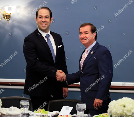 Ed Royce, Youssef Chahed House Foreign Affairs Committee Chairman Ed Royce, meets with Tunisian President Youssef Chahed on Capitol Hill in Washington