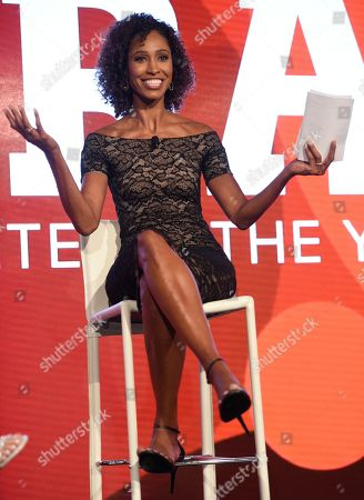 Stock Picture of Sage Steele speaks at the 15th annual High School Athlete of the Year Awards at the Ritz-Carlton hotel, in Marina del Rey, Calif