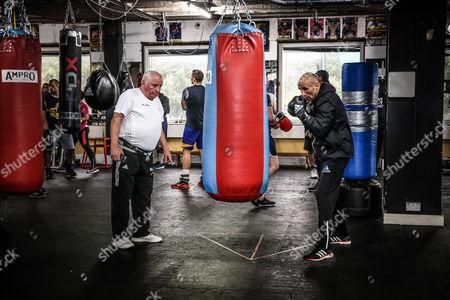 Editorial photo of Box training of Arthur Abraham and coach Ulli Wegner at Stonebridge Boxing Club, London, Great Britain - 11 Jul 2017