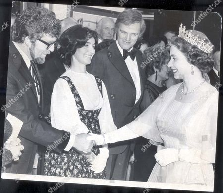Opening Of The New South Wales House In The Strand. Pix Shows: Rolf Harris Mrs Keith Michell Keith Michell Meet Queen Elizabeth II.