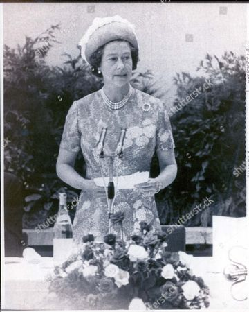 Royal Silver Jubilee Visit To Northen Ireland. 1977 10th-11th August 1977 Queen Elizabeth II Speaks To People Of Northen Ireland In An Open Air Broadcast From The Grounds Of The New University Of Ulster Here Thursday. Her Majesty Stated: 'this Is The Last Day Of My Jubilee Visits Around The United Kingdom And I Am Glad It Should Be Spent Amongst The People Of Northen Ireland Who Have Suffered And Courageously Borne So Much'