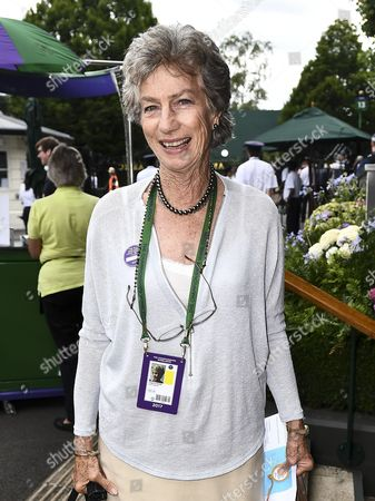Virginia Wade arrives at Wimbledon on ladies semi final day