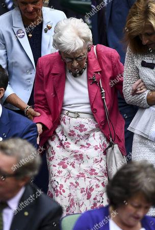 Dame June Whitfield in the royal box