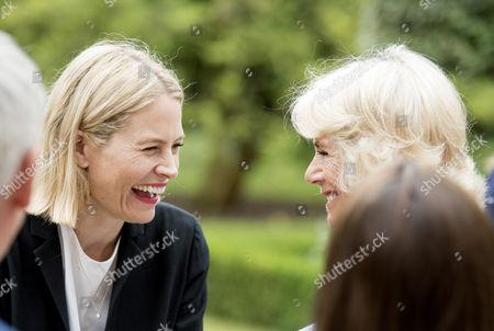 Camilla Duchess of Cornwall with author Lauren Child