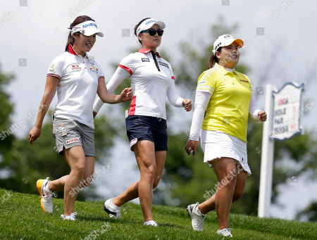 Seung Hyun Lee, So Yeon Ryu, Inbee Park South Korean golfers Seung Hyun Lee, left, So Yeon Ryu, center, and Inbee Park walk the course after teeing off the 13th hole during a practice round at the U.S. Women's Open Golf Championship at Trump National Golf Club in Bedminster, N.J