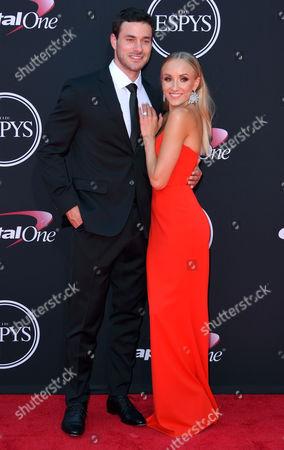 Stock Picture of Matthew Lombardi and Nastia Liukin