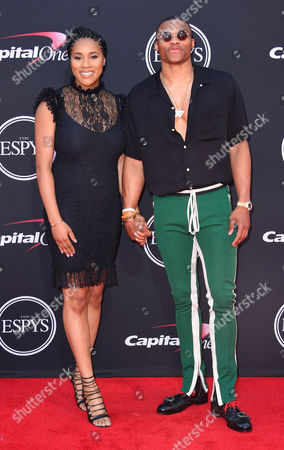 Stock Image of Nina Earl and Russell Westbrook