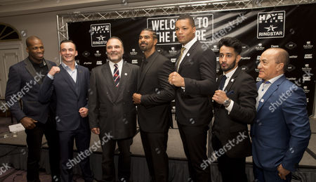 Stock Photo of Michael Page, William Hutchinson, Richard Schaefer, David Haye, Joe Joyce, Qais Ashfaq, Ismael Salas