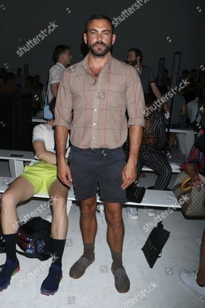 Editorial image of Parke and Ronen show, Front Row, Spring Summer 2018, New York Fashion Week Men's, USA - 12 Jul 2017