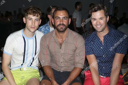 Stock Photo of Tommy Dorfman, Matthew Risch and Andrew Rannells
