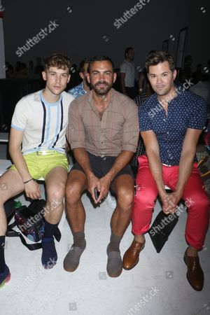 Editorial photo of Parke and Ronen show, Front Row, Spring Summer 2018, New York Fashion Week Men's, USA - 12 Jul 2017