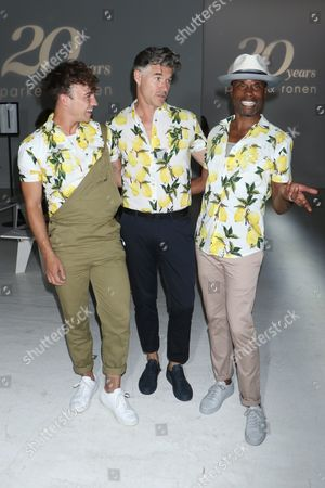 Editorial picture of Parke and Ronen show, Front Row, Spring Summer 2018, New York Fashion Week Men's, USA - 12 Jul 2017