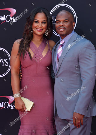 Stock Picture of Laila Ali and Curtis Conway