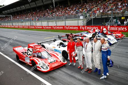 Legends Parade, Jean Alesi, Tom Kristensen, Dr. Helmut Marko (AUT, Red Bull Racing), Gerhard Berger, Hans-Joachim Stuck