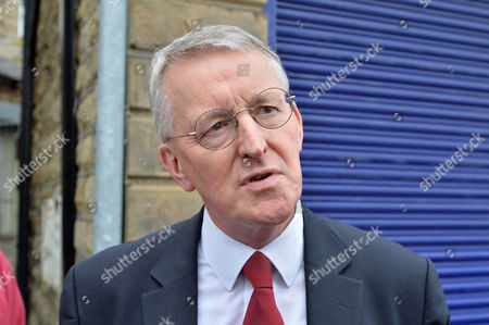 Hillary Benn MP Near The Scene Of The Attack In Birstall West Yorkshire Where Jo Cox MP Was Killed.-17/6/16.