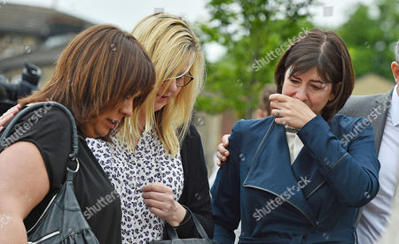 Editorial image of (l To R) Mp Paula Sherriff Mp Karen Rawlins And Mp Lucy Powell Lay Flowers Near The Scene Of The Attack In Birstall West Yorkshire Where Jo Cox Mp Was Killed. Pic Bruce Adams / Copy -17/6/16.