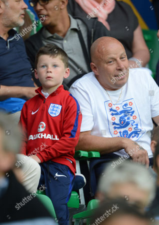 Wayne Rooney's Son Kai Rooney Watches England In Their Final Group B Match Against Slovakia In Saint Etienne France.