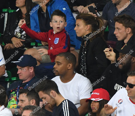 Coleen And Kai Rooney At England V Slovakia In Saint Etienne France 20.06.16.