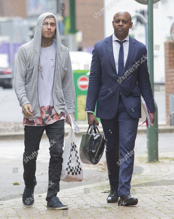 Marco Pierre White Jr Goes Out For A Sandwich While Waiting For His Case To Be Heard At Hammersmith Magistrates Court.
