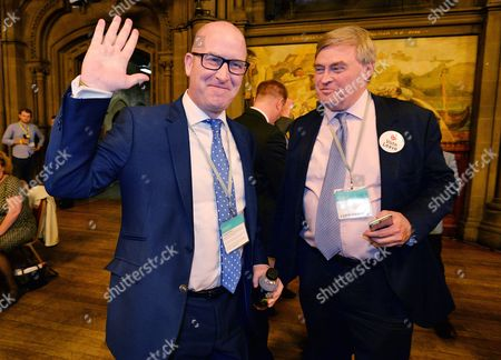 European Union Referendum Result. -(l To R) Ukip Deputy Leader Paul Nuttall And David Campbell Bannerman At Manchester Town Hall Where The Nations Decision On Whether To Remain Or Leave The European Union Will Be Announced.