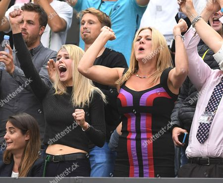 Marcus Willis Family And Girlfriend In Players Box Marcus Willis Girlfriend Jennifer Bate. Roger Federer V Marcus Willis Wimbledon 2016 Tennis Championships Wimbledon London. Day Three 29th June 2016.