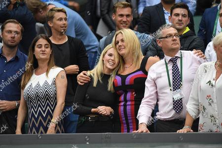 Marcus Willis Girlfriend Jennifer Bate At Match End. Roger Federer V Marcus Willis Wimbledon 2016 Tennis Championships Wimbledon London. Day Three 29th June 2016.
