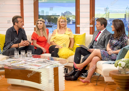 Pat Sharp, Melanie Grant and Martina Grant with Ben Shephard and Susanna Reid