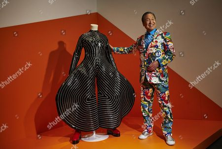 Editorial image of Japanese designer Kansai Yamamoto in Barcelona, Spain - 13 Jul 2017