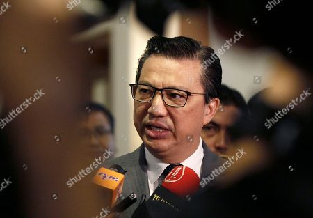 Malaysian Transport Minister Liow Tiong Lai speak to journalists during the Malaysia Airlines MH17 remembrance event in Putrajaya, Malaysia on . Malaysia has held a memorial service to mark the anniversary of the downing of Malaysia Airlines Flight 17 over eastern Ukraine in July 2014, which killed all 298 people aboard