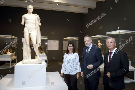 Editorial image of Presentation of exhibition 'Agon! Competition in Ancient Greece'', Madrid, Spain - 13 Jul 2017