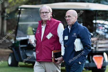 Tom Brokaw and Jeffrey Katzenberg