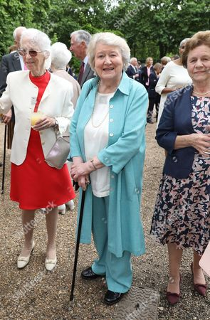 Patricia Routledge attends a reception to mark The Duchess of Cornwall's 70th birthday at Clarence House
