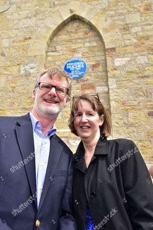 American Counsel General of NI Daniel J Lawton, Mrs Paula Hawkins at St Macartans Church