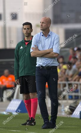 Maccabi Tel-Aviv coach Jordi Cruyff  during the UEFA Europa League, second qualifying round, first leg soccer match between Maccabi Tel-Aviv and KR Reykjavik at Netanya Stadium, Israel, 13 July 2017.
