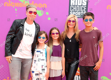 Stock Image of Abby Wambach, Glennon Doyle Melton and family