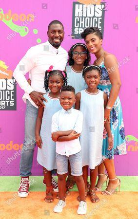 Stock Image of Greg Jennings, Nicole Jennings and family