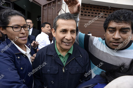 Former Peruvian President Ollanta Humala (L) and his wife Nadine Heredia (out of frame) leave the headquarters of the Nationalist Peruvian Party in Lima, Peru, 13 July 2017.  Justice Richard Concepcion Carhuancho is expected to issue a decision on the detention of former Peruvian President Ollanta Humala and his wife, Nadine Heredia, ahead of their trial for alleged bribery in the 2011 election campaign in the Odebrecht case on 13 July.