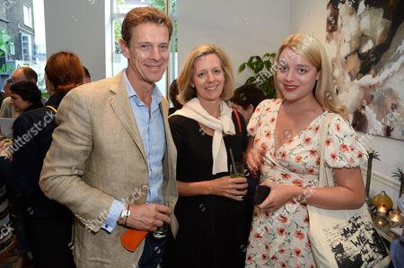 Editorial image of Maddie Rose Hills 'Boundaries' exhibition opening, London, UK - 13 Jul 2017