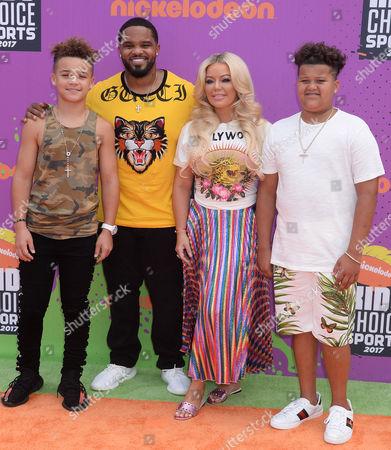Prince Fielder, Chanel Fielder, Jadyn Fielder and Haven Fielder