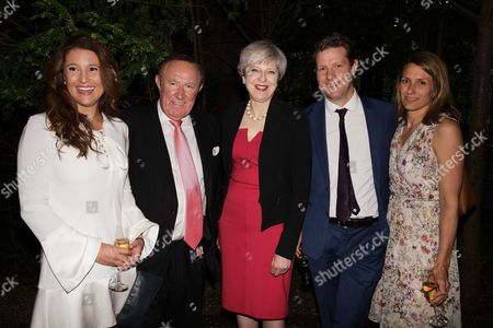 Susan Nilsson, Andrew Neill, Theresa May and Fraser Nelson