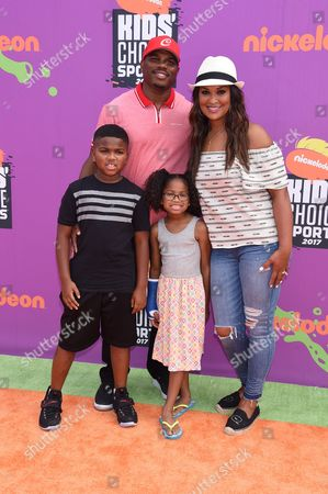 Stock Photo of Laila Ali, Curtis Conway, Sydney J Conway, Curtis Muhammad Conway