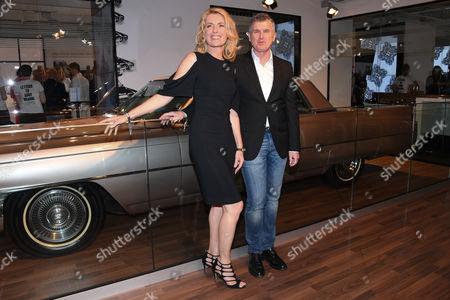 Maria Furtwangler and Patrick Moore (Director of the Andy Warhol Museum)