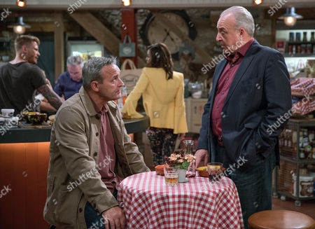 Lawrence White, as played by John Bowe, gatecrashes a meeting with Chrissie White, as played by Louise Marwood and Tim, as played by Mark Moraghan, but will he acknowledge he knows Tim? (Ep 7880 - Tue 18 Jul 2017)