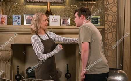 Lachlan White, as played by Thomas Atkinson, is fuming at how Gerry, as played by Shaun Thomas, has had the last laugh and when he sees him trying to kiss Belle Dingle, as played by Eden Taylor-Draper. How will he respond? Will he get his own back? (Ep 7890 - Thur 27 Jul 2017)