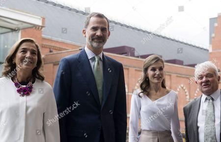 King Felipe VI, Queen Letizia and Paul Nurse