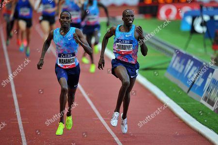 l-r; Elijah Motonei Manangoi and Timothy Cheruiyot both Kenya