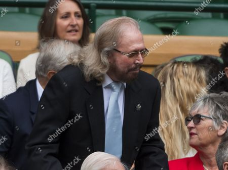 Barry Gibb in the royal box